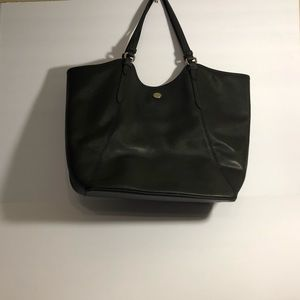 COACH Peyton Black Saffiano Leather Tote Bag